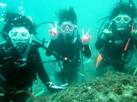 上五島の海でダイビング